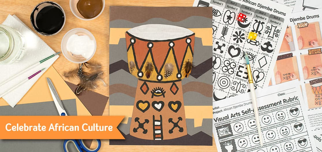 african drum art project for kids