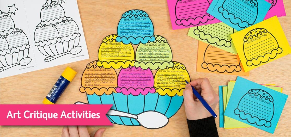 art critique worksheet for elementary art lesson ideas