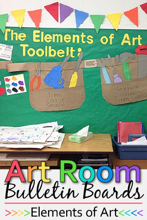 bulletin board, bulletin board ideas, art room bulletin boards, elements of art, art, classroom