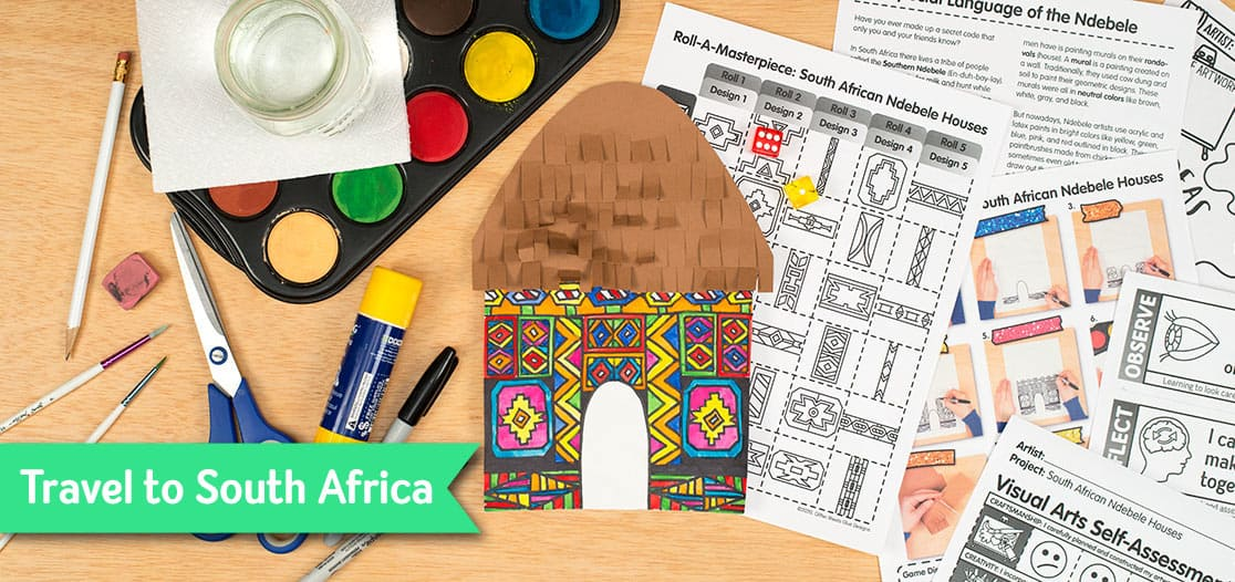 ndebele houses art game for kids