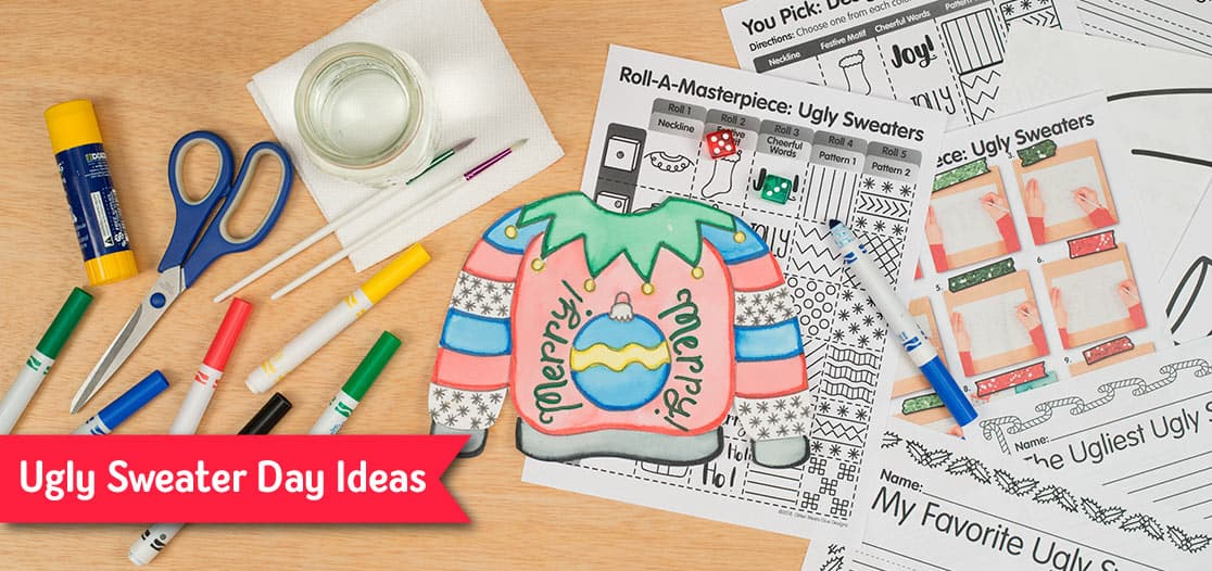 ugly sweater ideas for distance learning