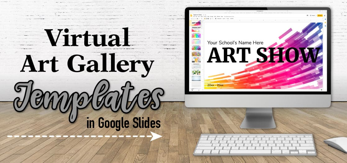 virtual art gallery in google slides