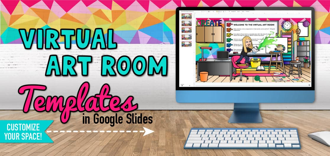 virtual art room template for distance learning