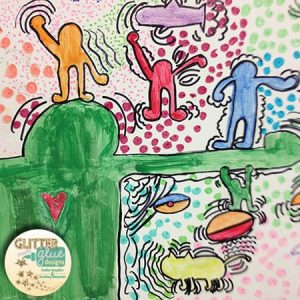 Keith haring dancing figures with action lines