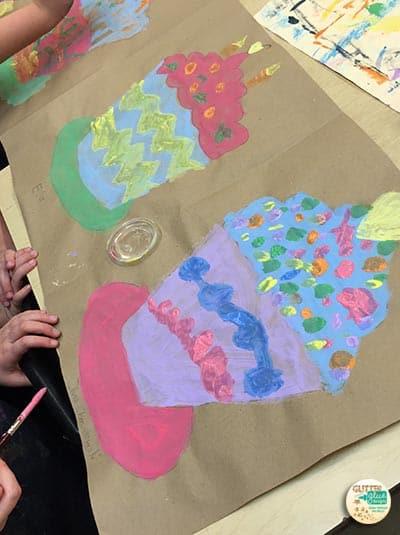 wayne thiebaud art lesson for second grade
