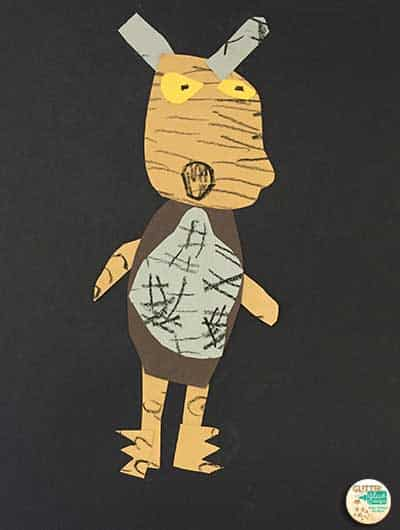 wild thing monster by first grade student
