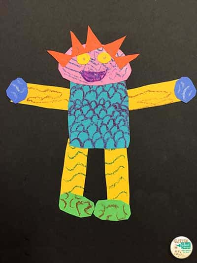 wild things first grade art project