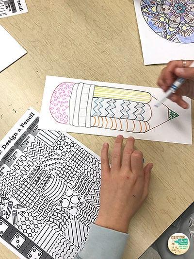 pencil art project for 4th grade