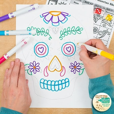dia de los muertos, art sub plan, art lesson plan, sugar skull project, day of the dead, painting lesson