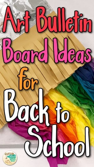 art bulletin boards, art room, paintbrush, Fall, back to school, display, elementary