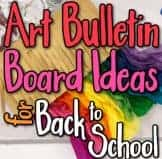 art bulletin boards, back to school, elementary, creative, display, Fall,