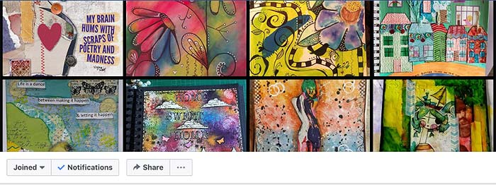 facebook groups, art teacher, visual arts, art journal, art journal prompts, journaling, collage, mixed media, art teacher, collaboration