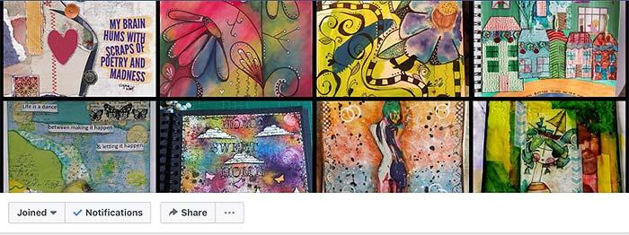 facebook groups, art teacher, visual arts, art journal, art journal prompts, journaling, collage, mixed media, art teacher, collaboration
