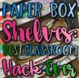 classroom hacks, paper not shelves, art room, art teacher