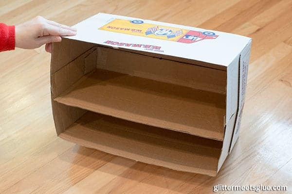 paper box shelves step 10