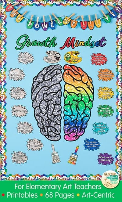 My growth mindset bulletin board idea for the art room