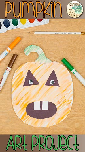 A cute pumpkin art project for Halloween.