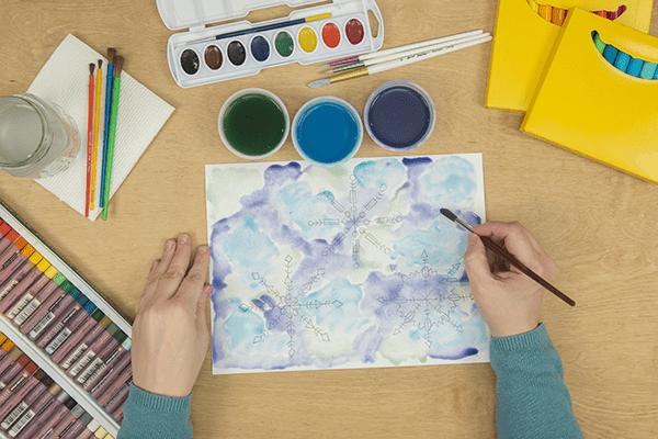 add violet liquid watercolors