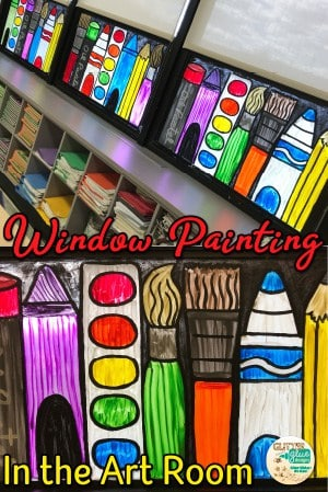 Window painting ideas for the art room