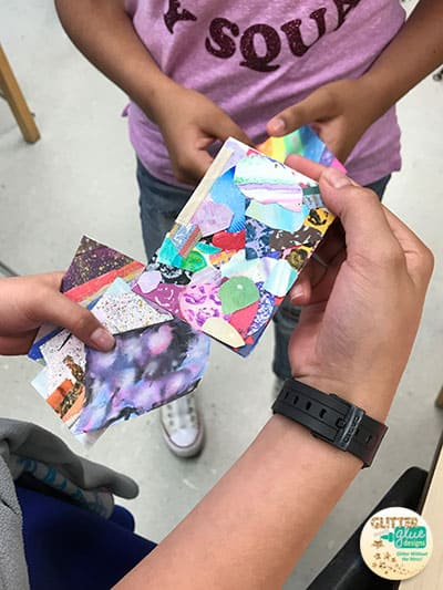 artist trading cards lesson with 3rd grade