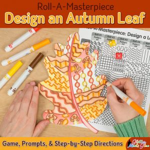 autumn leaf drawing game using fall colors