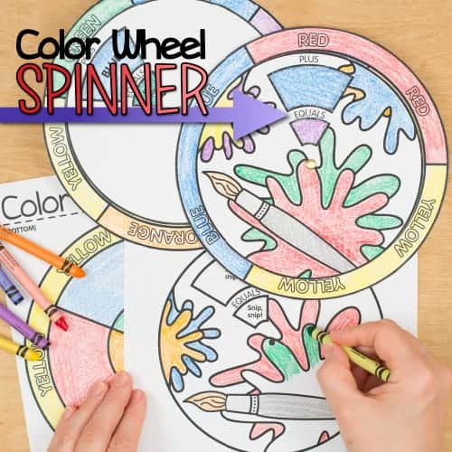 Color Wheel Spinners Art Resources Glitter Meets Glue Designs