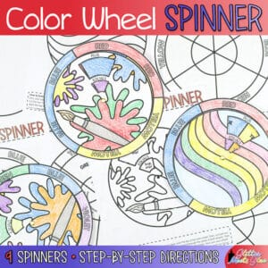 color wheel spinner for kids