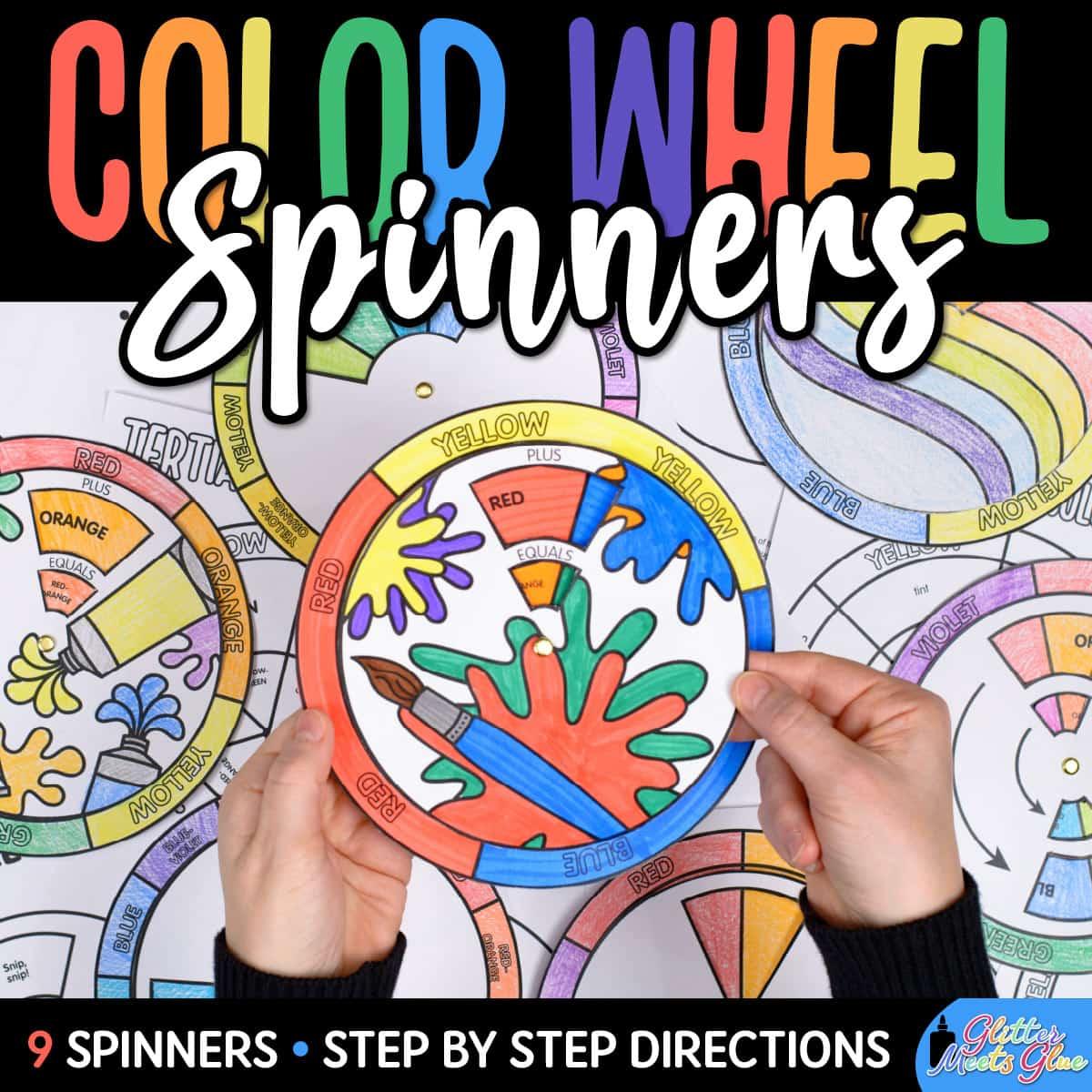 color wheel spinner for kids