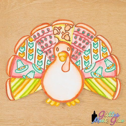 art lesson to create a turkey for thanksgiving using patterns