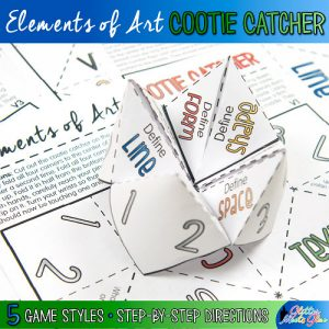 elements of art cootie catcher game