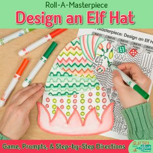 elf hat game for christmas activities