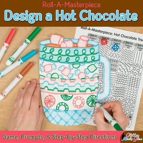 hot chocolate drawing game for winter activities