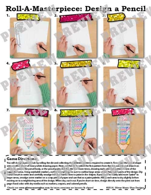 picture tutorial on how to design a pencil