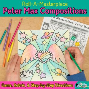 peter max pop art drawing game
