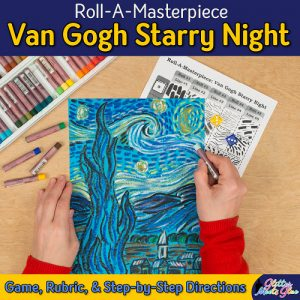 van gogh starry night art lesson for elementary art students