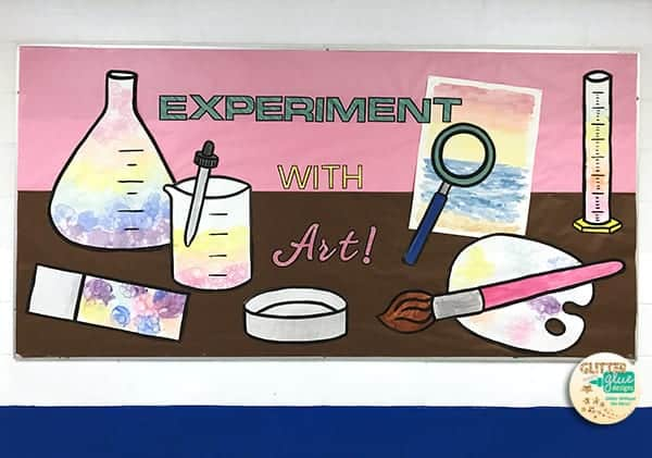 Experiment with art steam bulletin board