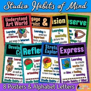 studio habits posters for art teachers