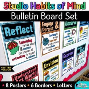 studio habits posters for art teachers