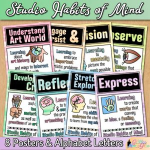 8 studio habits of mind posters for the art room