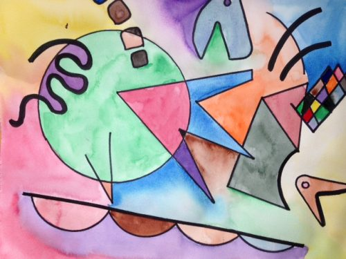 example of kandinsky painting game for elementary students
