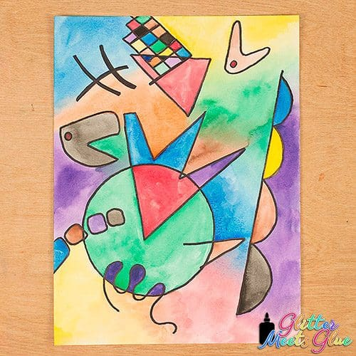 wassily kandinsky watercolor painting art project