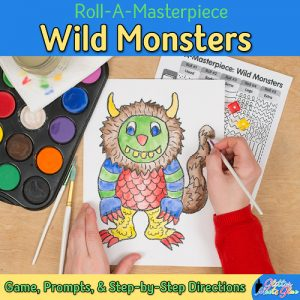 wild monster drawing game teaches visual texture