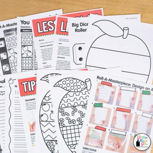 pop art apple project for kids