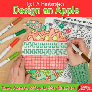 design an apple art project using a fun marker painting technique