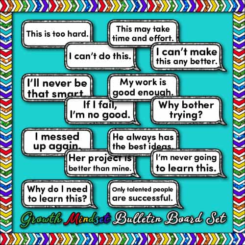 growth mindset vs fixed mindset phrases