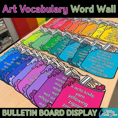 art vocabulary words for elementary art teachers and students