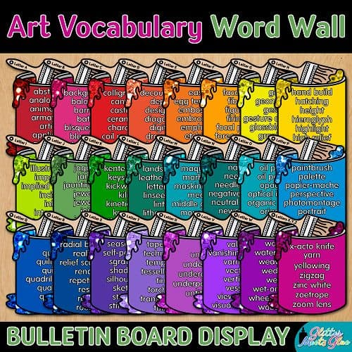 24 art vocabulary word wall for elementary art teachers