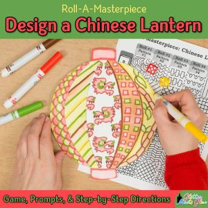 chinese new year lantern art project and roll-a-dice game