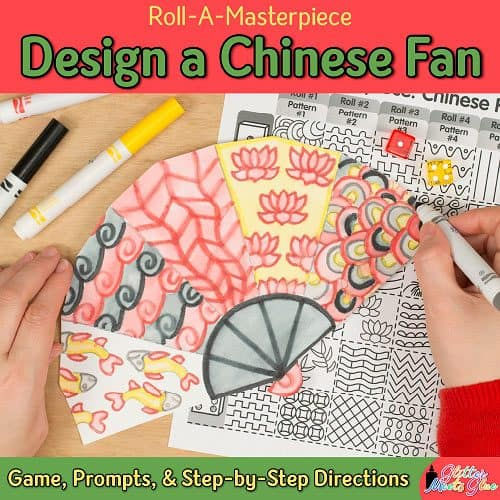 chinese new year fan game art lessons byglitter meets glue chinese new year fan game