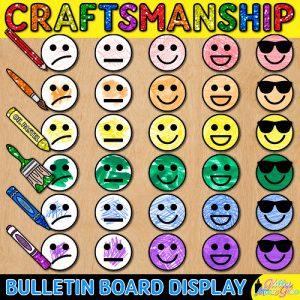 craftsmanship rubric bulletin board for visual arts teachers